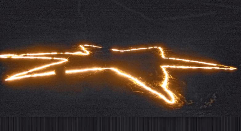 Das Feuer in Sternform. FOTO: PRIVAT