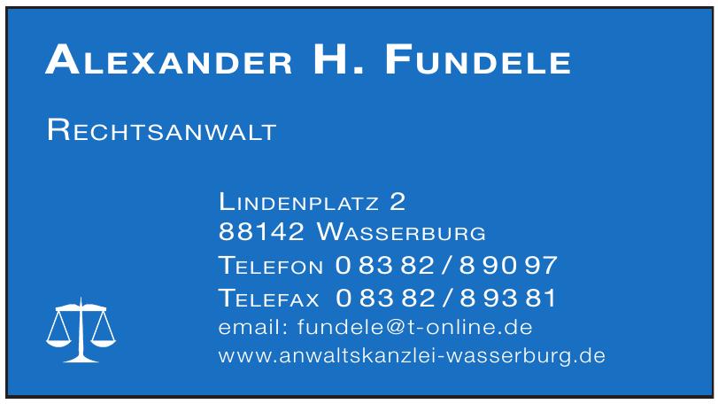 Alexander H. Fundele Rechtsanwalt