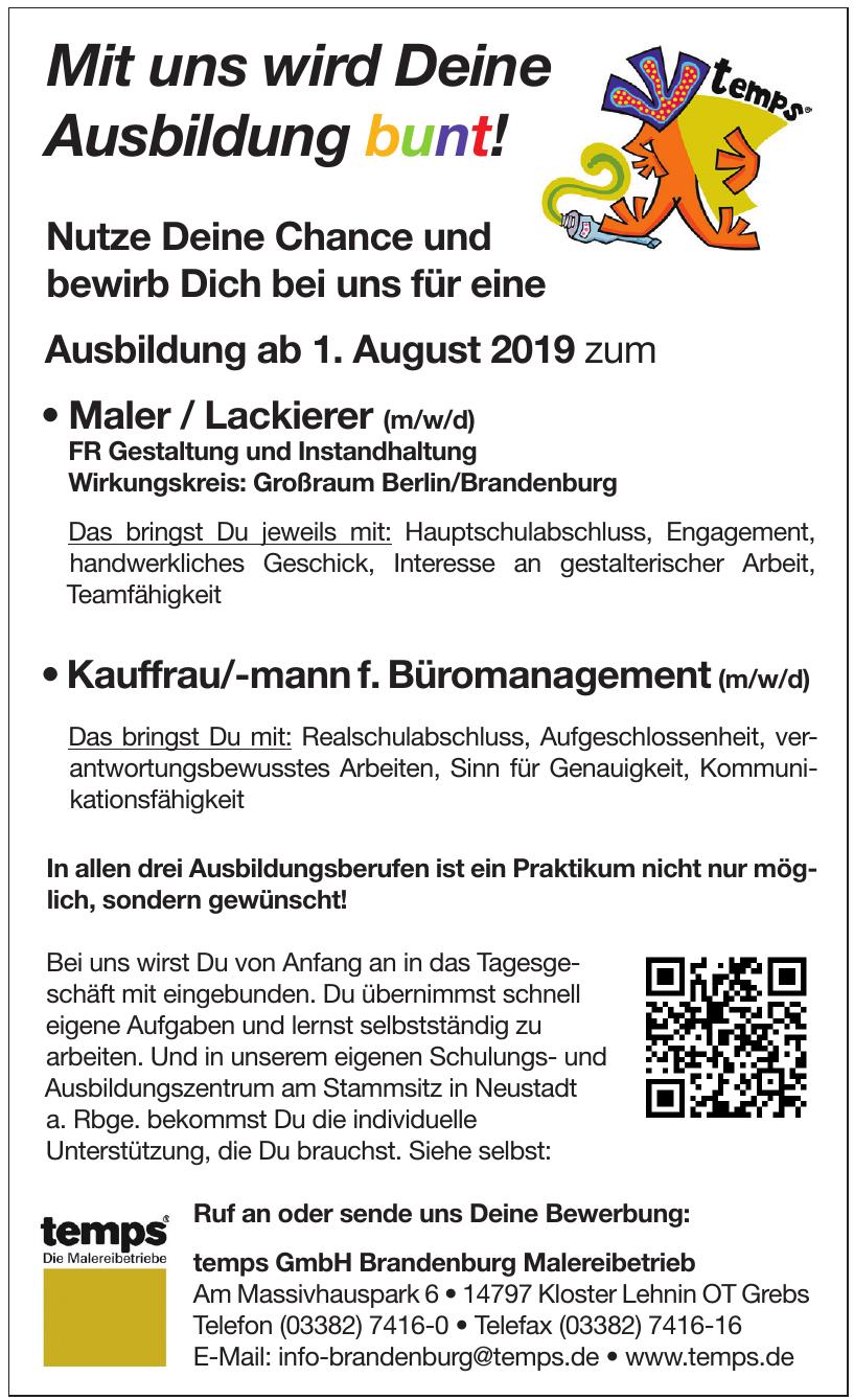 temps GmbH Brandenburg Malereibetrieb
