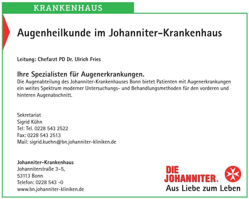 Augenheilkunde im Johanniter-Krankenhaus