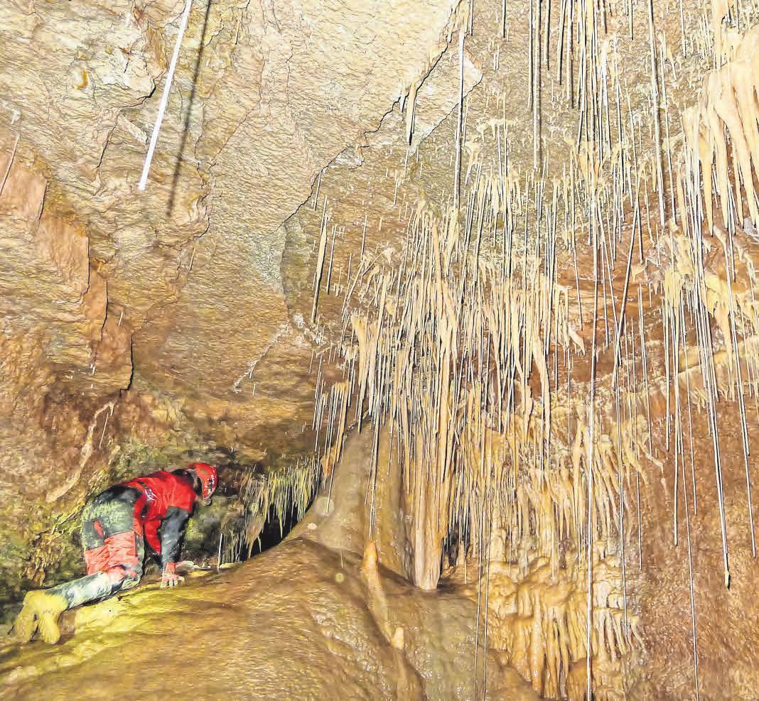 Tropfsteine dienen Höhlenforschern des Pik als Klimaarchive. FOTOS: PIK