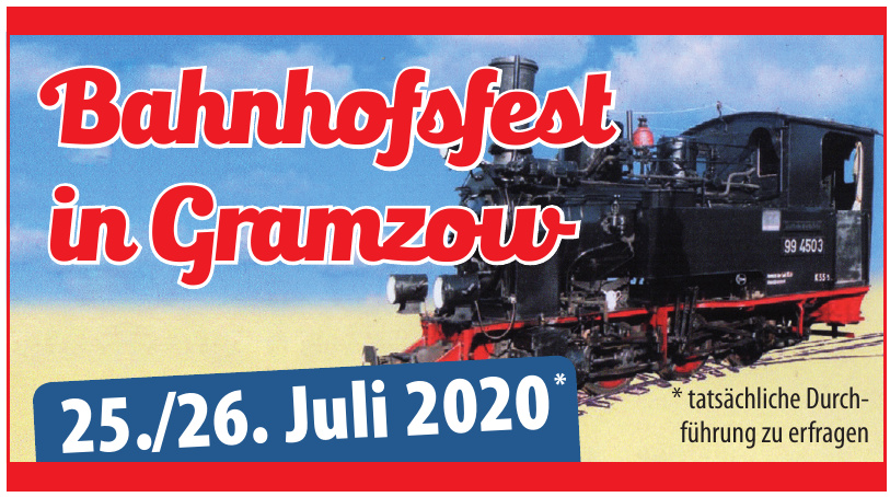 Bahnhofsfest in Gramzow