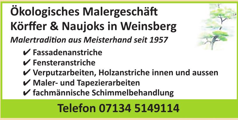 Ökologisches Malergeschäft Körffer & Naujoks in Weinsberg