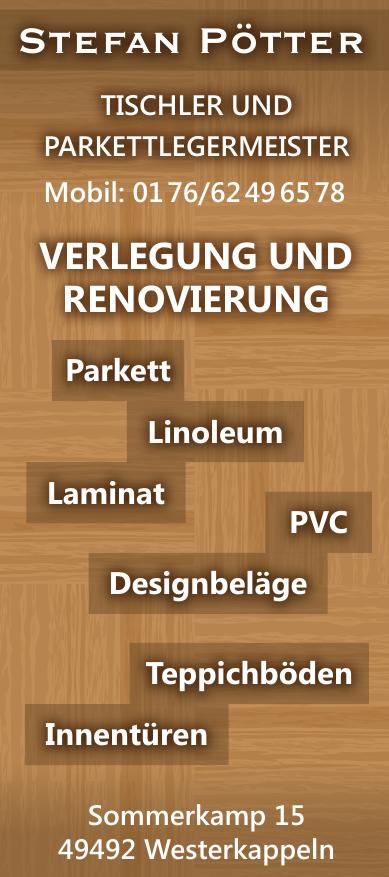 Stefan Pötter Tischer und Parkettlegermeister
