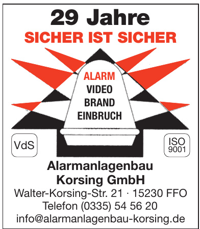 Alarmanlagenbau Korging GmbH