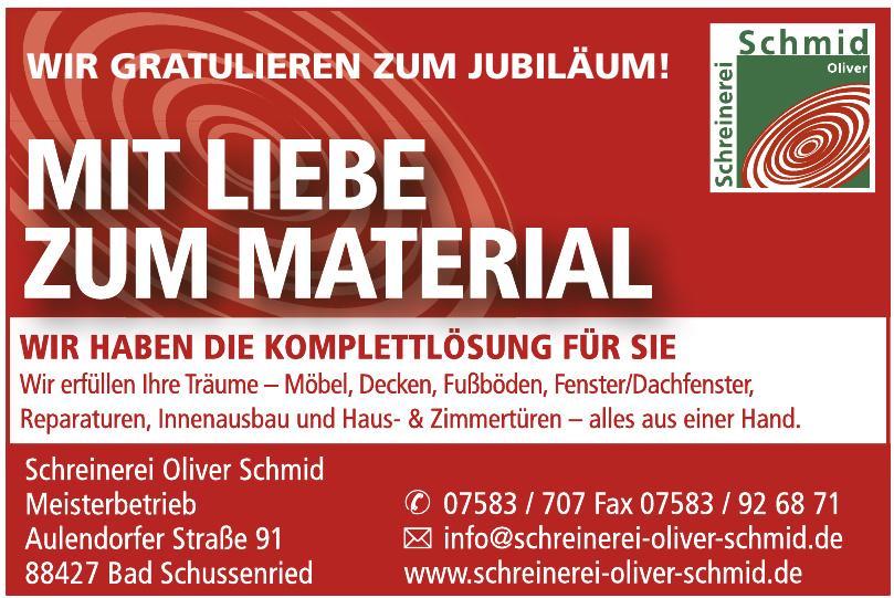 Schrenerei Oliver Schmid