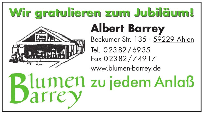 Albert Barrey Blumen