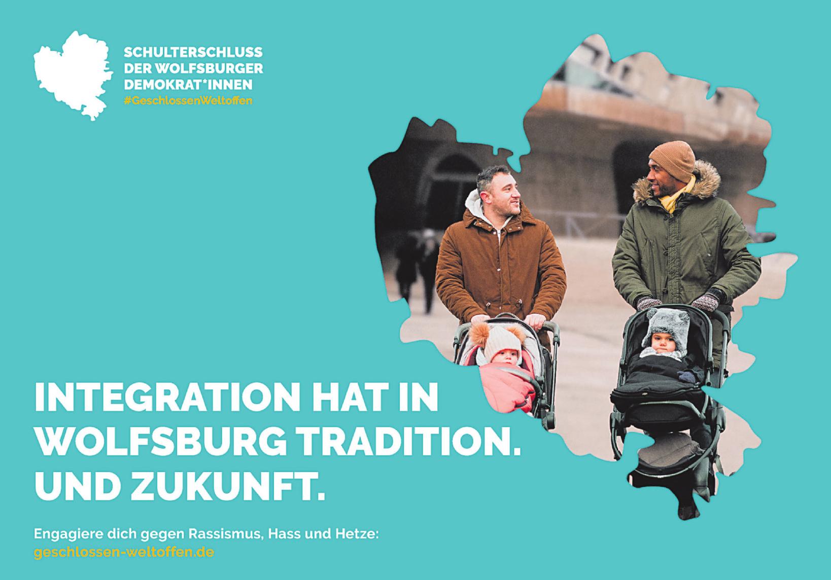 Schulterschluss der Wolfsburger Demokrat'nnen