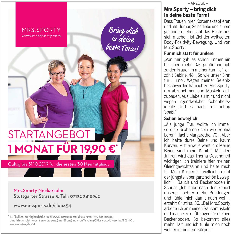 Mrs. Sporty Neckarsulm-Neuberg