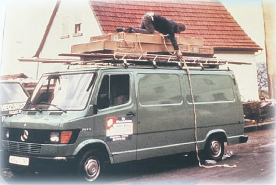 Als Ein-Mann-Betrieb startete Hubert Markart vor 40 Jahren in die Selbstständigkeit (Foto: Archiv Markart)