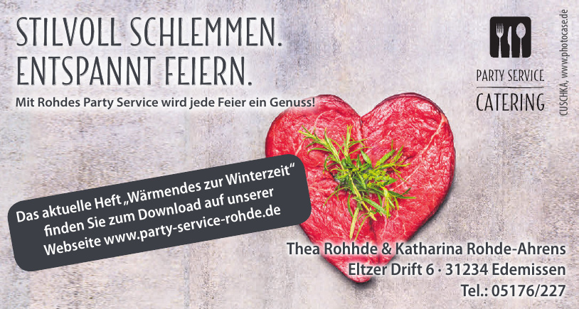 Thea Rohde Fleischerei & Partyservice