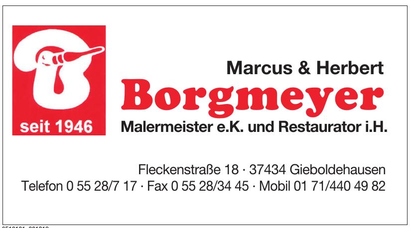 Marcus & Herbert Borgmeyer Malermeister e.K und Restaurator i.H.