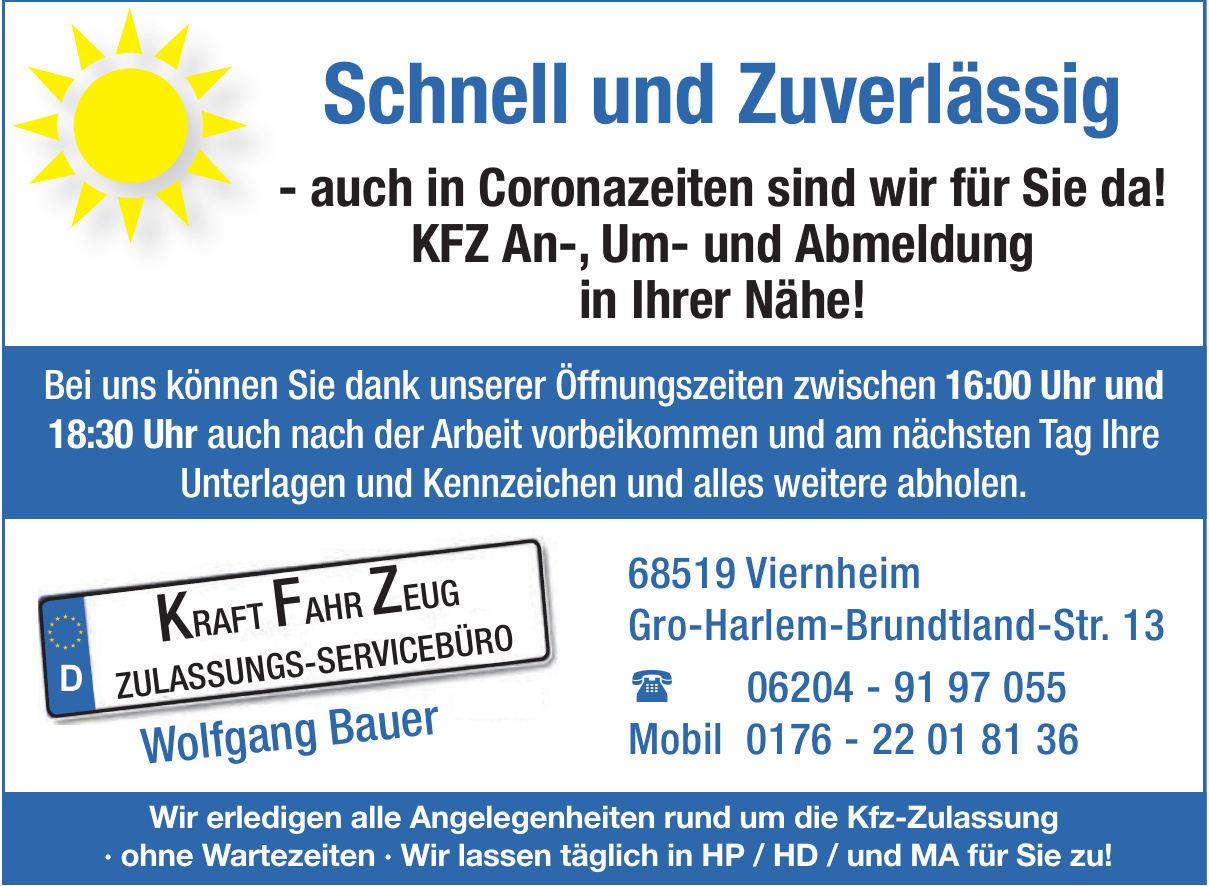 Wolfgang Bauer - KFZ