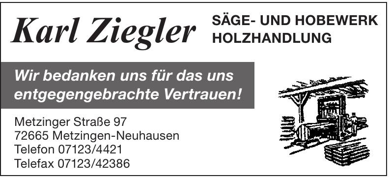 Karl Ziegler Säge- und Hobewerk Holzhandlung