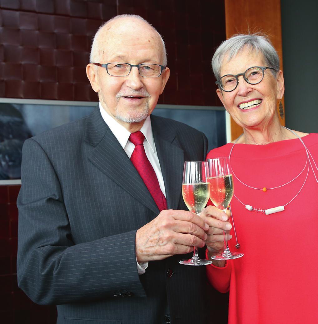 Mit Ehefrau Sabine beim 80. Geburtstag
