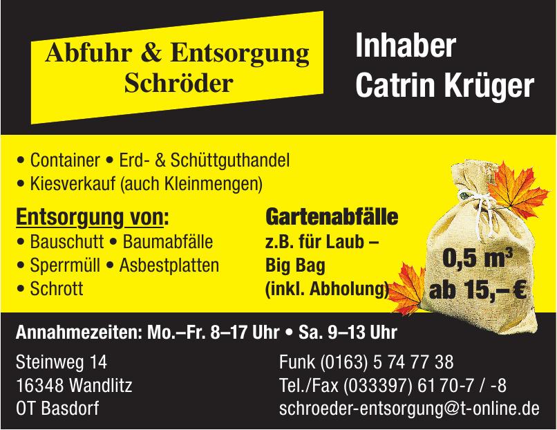 Abfuhr & Entsorgung Schröder