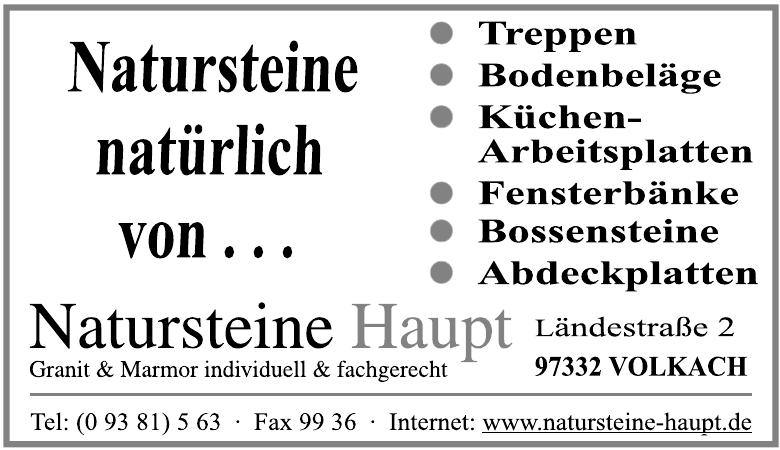Natursteine Haupt