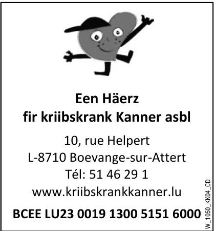 Een Häerz fir kriibskrank Kanner asbl