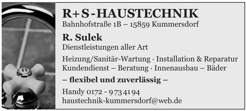 R + S - Haustechnik