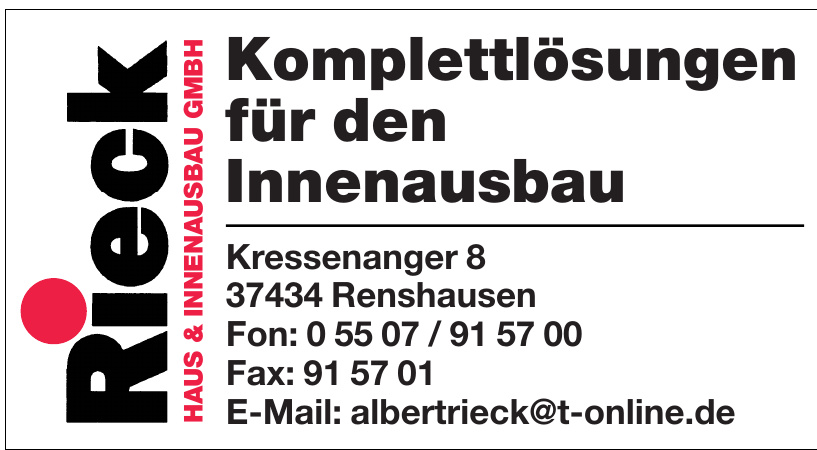 Rieck Haus & Innenausbau GmbH
