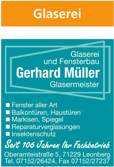 Glaserei und Fensterbau Glasermeister Gerhard Müller