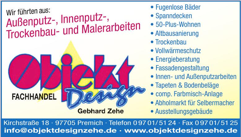 Objekt Design - Gebhard Zehe