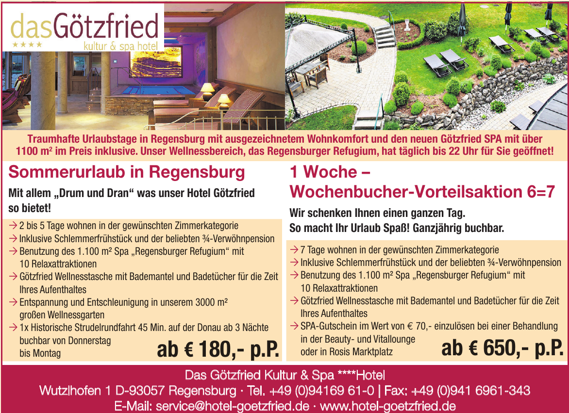 Das Götzfried Kultur & Spa ****Hotel