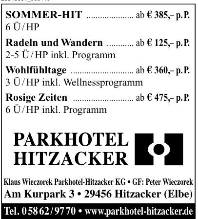 Parkhotel Hitzacker - Klaus Wieczorek Parkhotel-Hitzcacker KG
