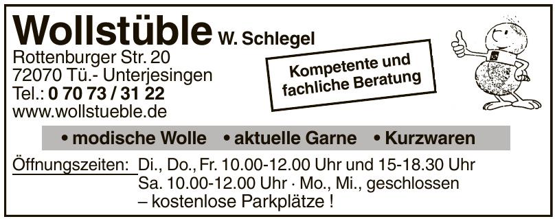 Wollstüble W. Schlegel