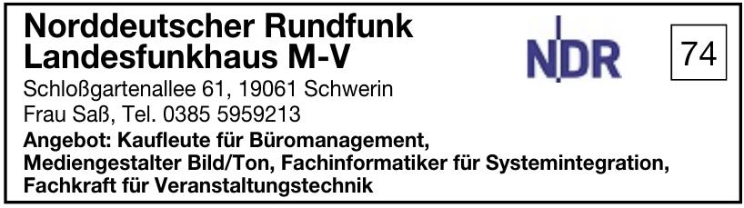 Norddeutscher Rundfunk Landesfunkhaus M-V