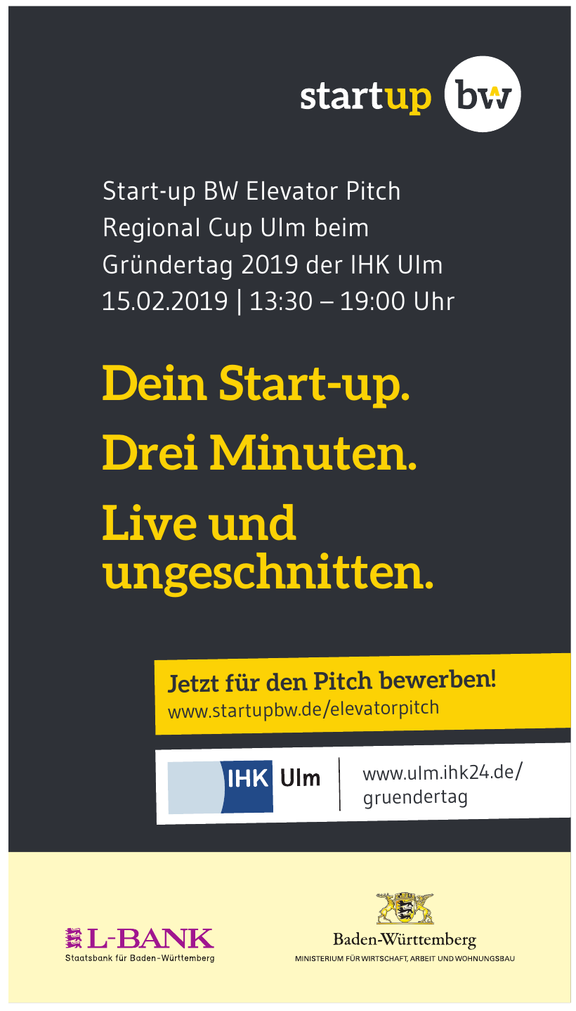 Start-up BW Elevator Pitch