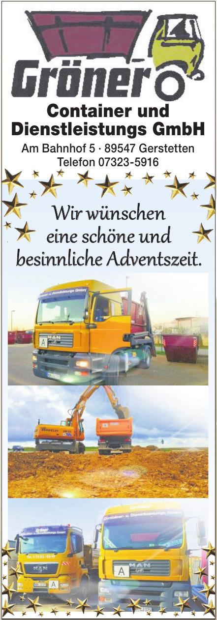 Gröner Container und Dienstleistungs GmbH