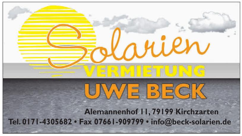 Solarien Vermietung Uwe Beck