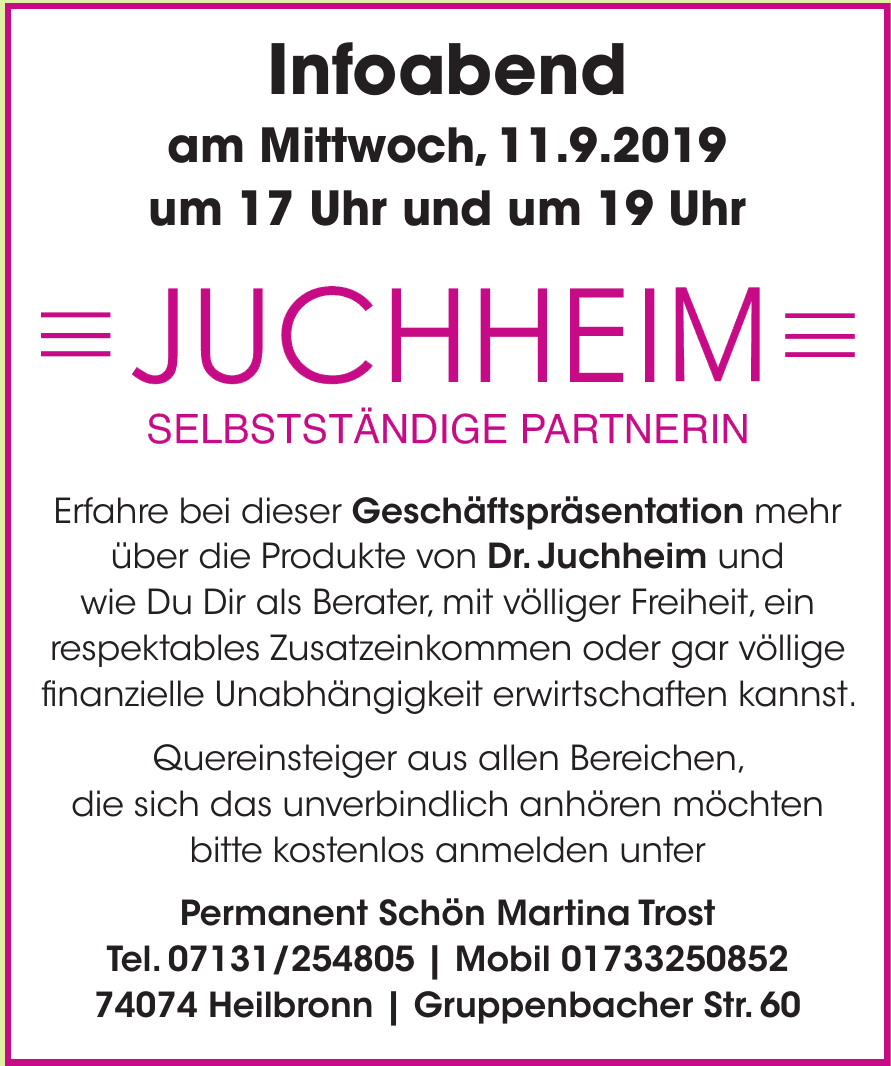 Permanent Schön Martina Trost