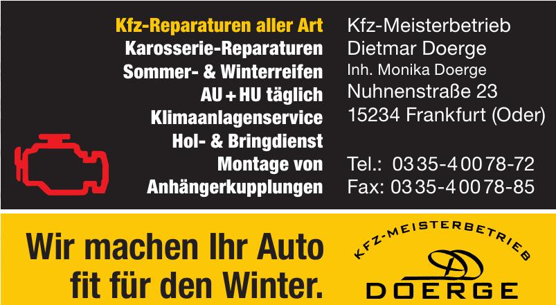 Kfz-Meisterbetrieb Dietmar Doerge