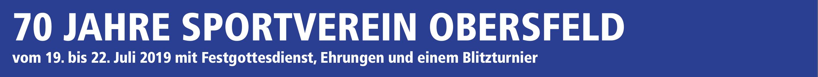 70 Jahre Sportverein Obersfeld Image 1
