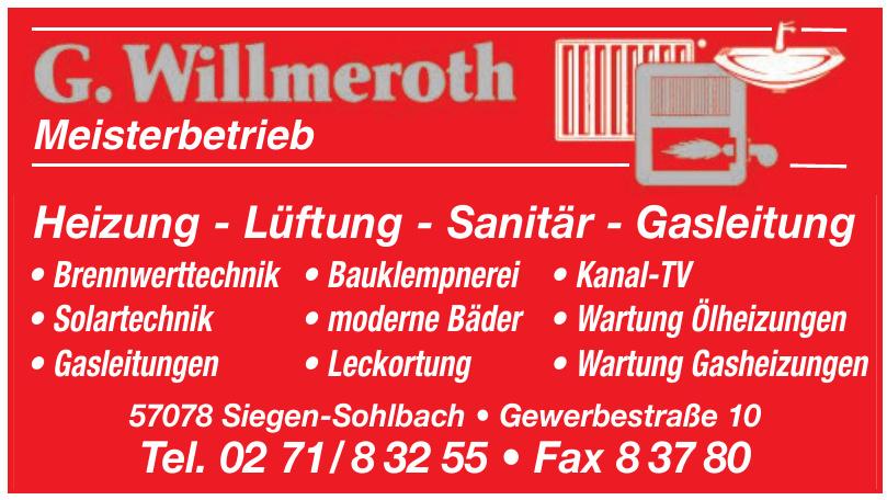 G. Willmeroth-Heizung - Lüftung - Sanitär - Gasleitung