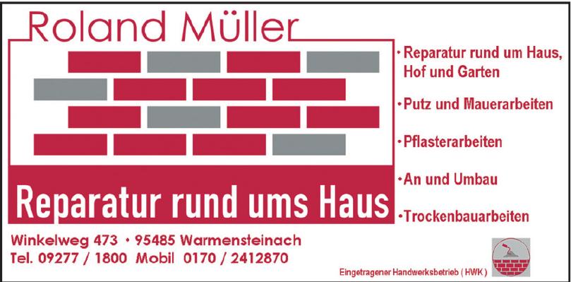 Roland Müller Reparatur rund um Haus