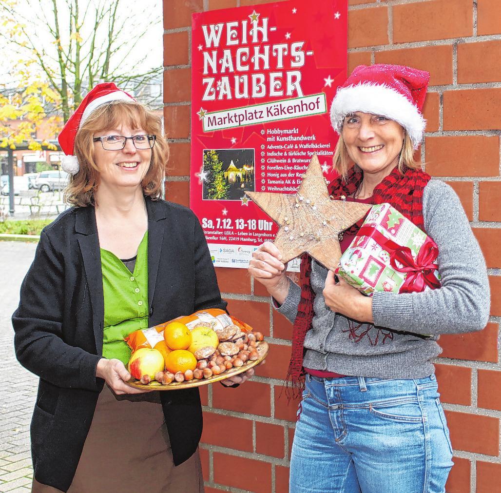 """Hilke Gesine Möller (l.) und Cornelia Hadeler von LEiLa sind bereits in Vorfreude auf den """"Weihnachtszauber"""" Foto: blu"""
