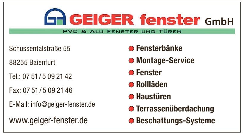 Geiger Fenster GmbH
