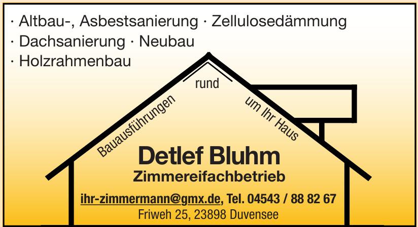 Detlef Bluhm Zimmereifachbetrieb
