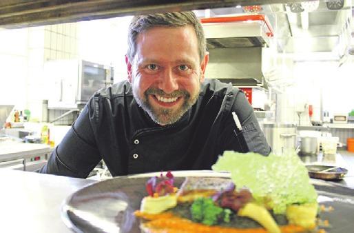 Küchenchef Mike Schulze serviert feine regionale Speisen von bester Qualität.