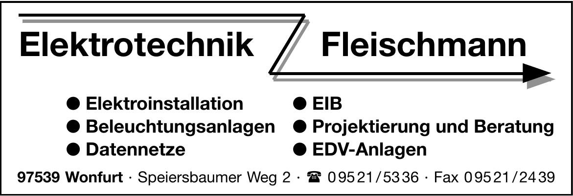 Elektrotechnik Fleischmann