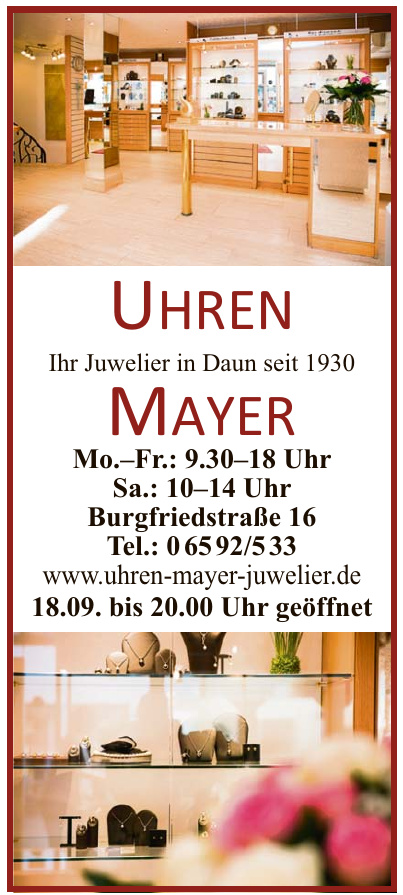 Juwelier Uhren Mayer