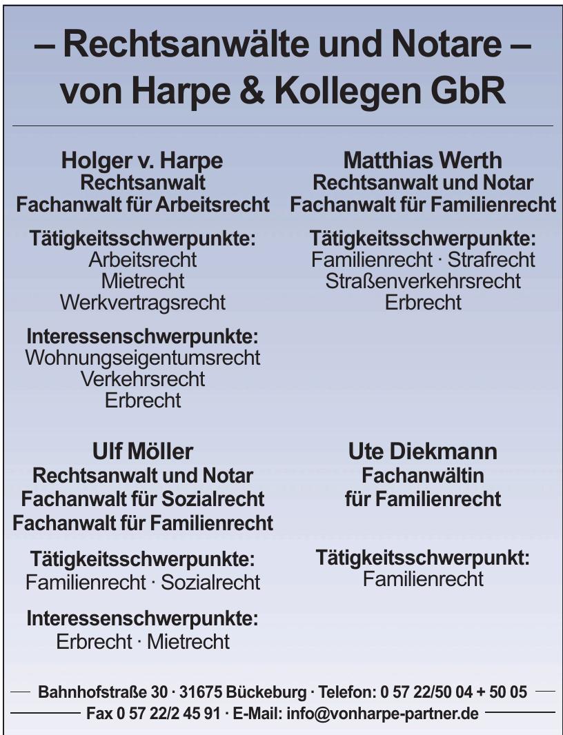 Rechtsanwälte und Notare – von Harpe & Kollegen GbR
