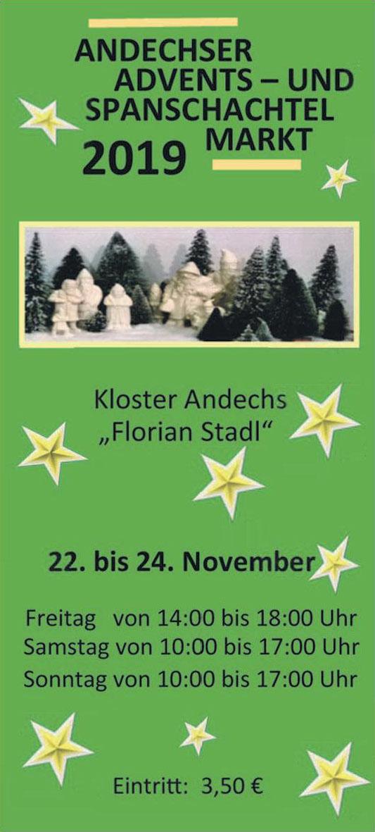 Andechser Advents- und Spanschachtel Markt 2019