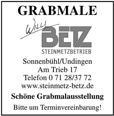Grabmale Willi Betz