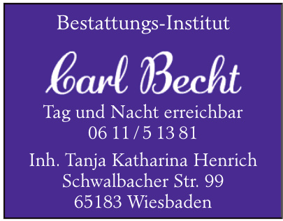 Bestattungs-Institut Carl Becht