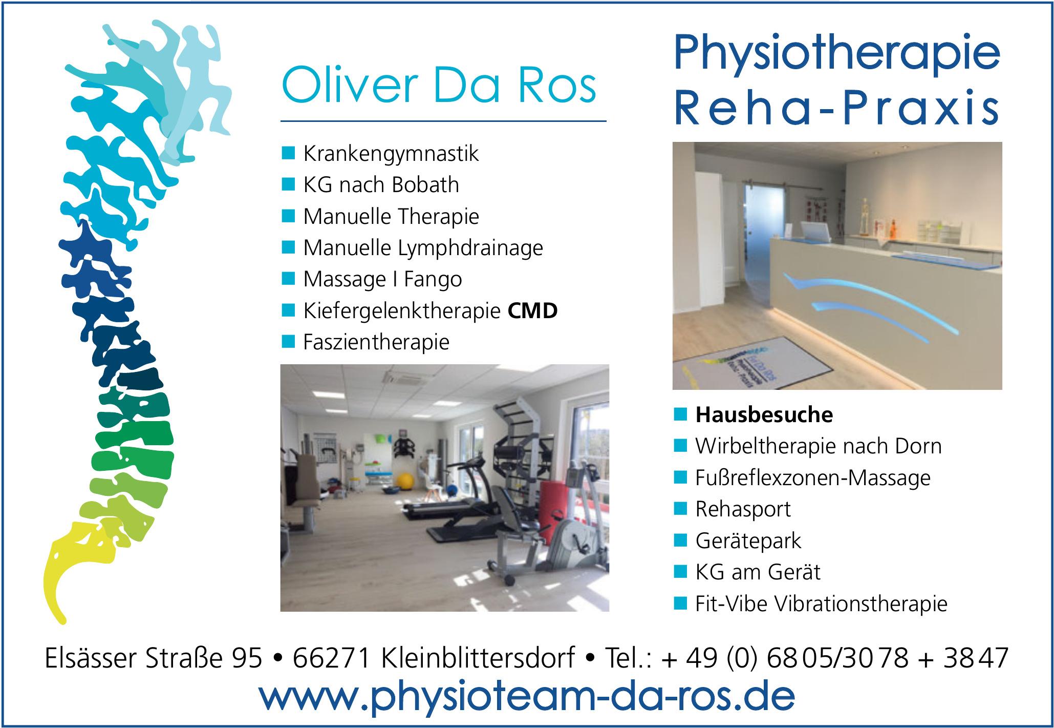 Oliver Da Ros Physiotherapie und Reha-Praxis
