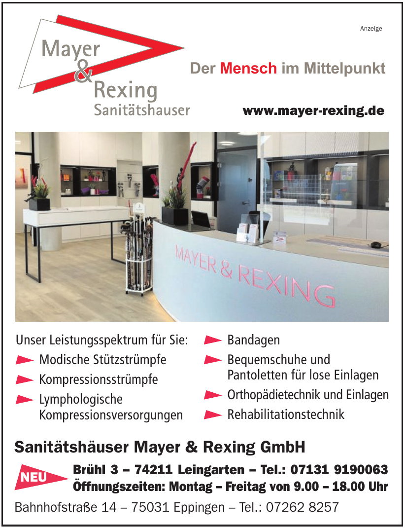 Sanitätshaus Mayer & Rexing GmbH